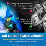 Which line from the theatre gives you that #FridayFeeling? FOLLOW, RT & share it to #WIN 1 of 2 theatre vouchers! https://t.co/K9ZQUCFAGH