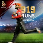With a 233-run-lead over next-in-line Warner, VK has outrun & outdone all competition for the orange cap! #PlayBold https://t.co/eHX6kZru5Y