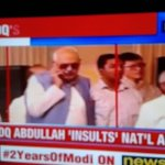 Farooq Abdullah Faux Paus caught chatting on the phone while National Anthem is played .Abdullah Insults NA. https://t.co/ZB9KWyxdfn