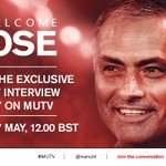 Watch #MUTVHD at 12:00 BST (UK/IRE) for Jose Mourinhos first interview as #mufc manager: https://t.co/IsfFA7ncZU https://t.co/fpngQtMvL8