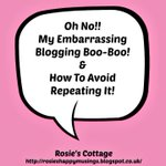 Rosies Cottage Why Its So Important To Regularly Check Your Blog.. https://t.co/l1FsX386P9 #blogging Sorry honeys! https://t.co/gc3ljaZZg0