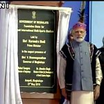 PM @narendramodi lays foundation stone for new football stadium Ampati in Shillong (pic credit: ANI) https://t.co/P8epu9dmuq