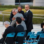 President Obama embraced Shigeaki Mori, a survivor of the Hiroshima attack, after his speech https://t.co/ua97h5FhDm https://t.co/LATJG7iqas