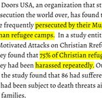 Germany: 75% of Christian refugees harassed https://t.co/8OfEzW67t3 Muslim Refugees Persecute Christian #Refugees https://t.co/T8TOkul0z9