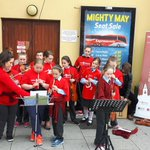 .@MusicGenCC musicians performing @ Parnell Place bus station. On to @MerchantsQuay1 next at 1pm #Feelgoodcork https://t.co/HJDU8FHNDv