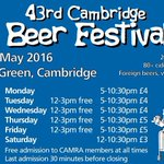 Glorious day @cambeerfest Lot of beer left & many happy drinkers. Go on, its nearly the weekend! #cbf43 #Cambridge https://t.co/aPKalkcLEb