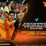 #OrangeVoice is back for our biggest game yet. Tweet the game as it happens and cheer #SRH on today #OrangeArmy https://t.co/CRHOwKS8h1