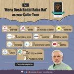 You can set #TransformingIndia theme song Mera Desh Badal Raha Hai as your caller tune on mobile. https://t.co/h1hCigLerX