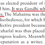 Stunned. Prof Guha in his Makers of Modern Asia says Bapu pushed for Nehru to become the Congress chief. Total lie. https://t.co/elShAHVofM