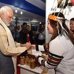 PM @narendramodi visiting the women Self Help Group stalls at exhibition on achievements of North East in Shillong https://t.co/zEF3dbKyNZ