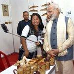 PM Shri @narendramodi going around the exhibition of achievements of the North East, in Shillong https://t.co/UBZdHnhQZ4