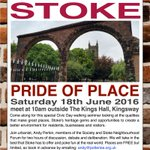 Join us in Stoke on 18 June to celebrate #civicday with a new version of our award-winning Pride of Place walk. https://t.co/uew9jYMQ4p