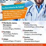 Oportunidad de Trabajo se solicitan médicos especialistas para los siguientes municipios: https://t.co/R7K9nGaMwK