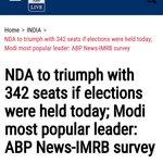 Pic1-Modis popularity in Jan16 NDA to get 301 seats Pic2-Modis popularity now NDA to get 342 seats #NamoBestPMever https://t.co/2KAQVYemEz