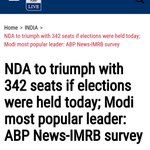 #NamoBestPMever PM Modi will get 342 seats if elections were to happen 2day This has thrown Bazaaru Media into fit???? https://t.co/3ecMjbIaoB