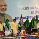 PM narendramodi flagging off new passenger trains for North East at the public meeting in Shillong https://t.co/UhzWcrHH9R