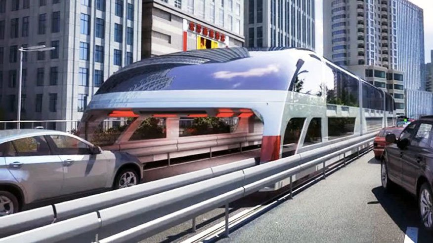 China's Land Airbus will let you drive directly under a bus |