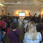 Love my Fridays with friends @Raleigh_CM check out this packed house @camraleigh #CreativeMornings https://t.co/knjqzEiR1C