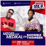 Medikal (@amgmedikal) will be joining us on #ShowbizThisWeek with @ammzgee tomorrow morning. Make a date! https://t.co/k7NZtCuvg3