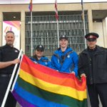 On hand for the @PrideWinnipeg Flag raising at City Hall today. Going to be a great week! https://t.co/BHC3QiHcqR https://t.co/qIBeAvFLvy