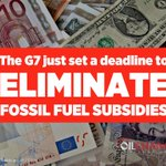 BREAKING: #G7 just committed to end fossil fuel subsidies by 2025. Lets speed it up! #ActOnClimate #divest #cdnpoli https://t.co/Y4PdQgE7Tm
