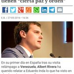 """Es de agradecer que Rivera hable de la """"paz y el orden"""" que reina en las dictaduras. Aclara las ideas para el #26J https://t.co/jcEDMoLd3h"""