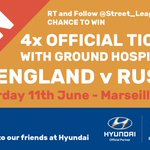 #WIN four tickets to #England v #Russia at Euro 2016, thanks to @Hyundai_UK! RT & FOLLOW @Street_League to enter! https://t.co/uI3OCmuHZD