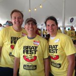 Bring on the brats!! Get your brats from this good looking crew. @nbc15_madison @johnstofflet @BratFest https://t.co/AIcOp1o0aW