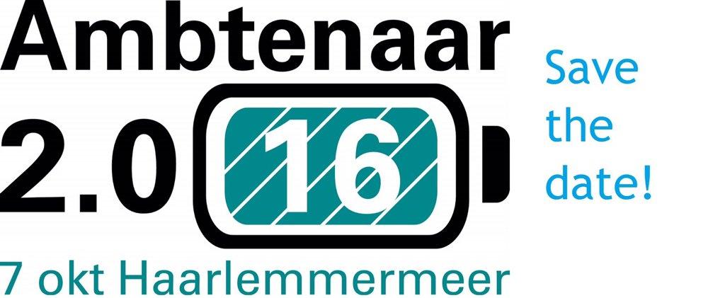 Heb je m al in je agenda staan? 7 oktober Ambtenaar 2.0 Dag in Hoofddorp #a20dag https://t.co/e3DvyflP2D