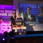 Sarah Travers & Pete Snodden open the BCTC Business Awards. @BelfastCentre @BelfastChamber @BelfastBID https://t.co/6hpj8YG3bV