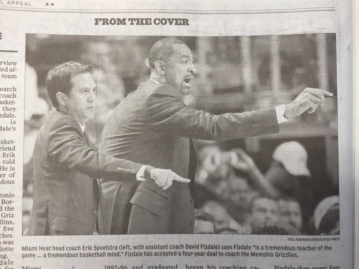 Welcome to Memphis, Coach Fizdale.  You look different in the paper.