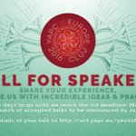 Cant believe were almost done with the 1st call for speakers! More on https://t.co/iqo3aroklU #yapceu2016 #perl https://t.co/cg8EhAzkDO