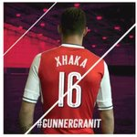 Granit Xhaka will wear the No.16 shirt at Arsenal. (Source: @Arsenal) https://t.co/MEJQWEPGn2