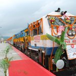 Kamakhya, Vaishno Devi connected by Kamakhya-Katra Exp flagged off by Honble PM today @RailMinIndia @sureshpprabhu https://t.co/1N2wVmrEXU