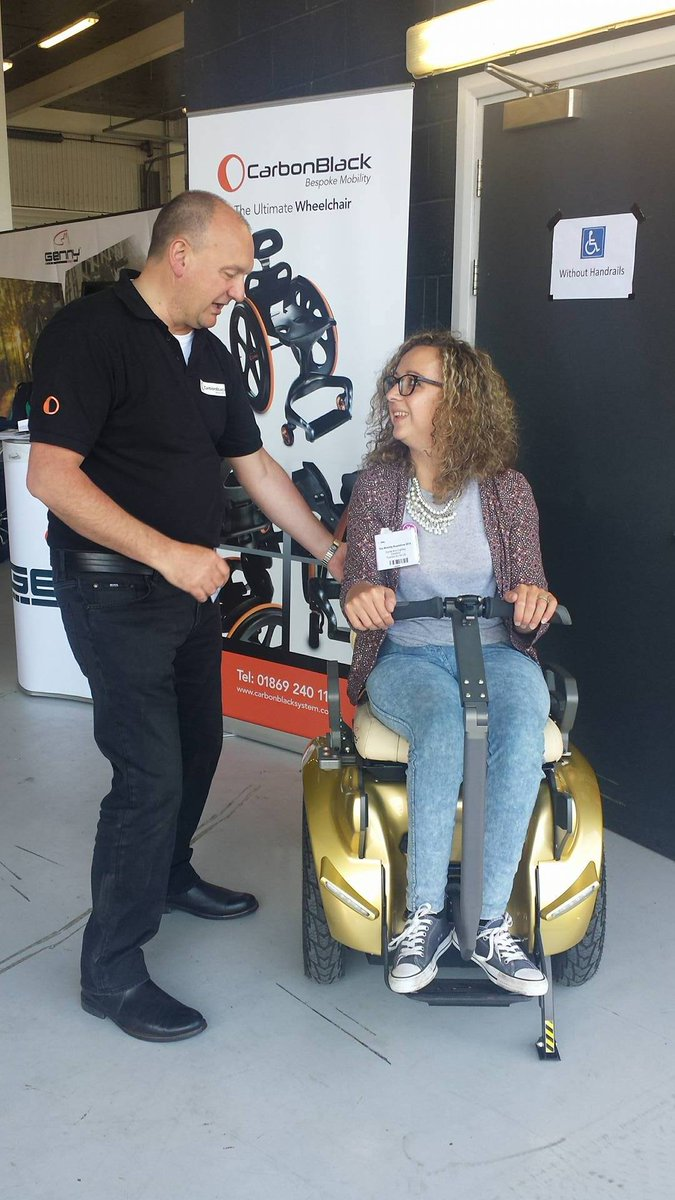 Carrie-Ann tried out a segway from @GennyMobilityUK  Such an amazing experience! #MobilityRoadshow https://t.co/fulOnto6gb