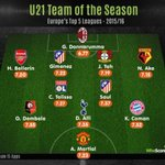[@WhoScored] Léquipe type des U21 de la saison ! https://t.co/RJO1TRSKuX