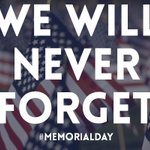 We will always be grateful and will never forget our brave heroes & their families. #MemorialDay https://t.co/JMPZNg1xLo