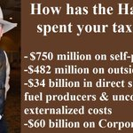 #ThankYouStephenHarper for wasting billions on partisan ads, corporate tax breaks and fossil fuel subsidies #cdnpoli https://t.co/TOgayPy33L