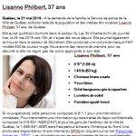 Le SPVQ sollicite votre aide afin de localiser Lisanne Philbert 37 ans portée disparue. Merci de partager! https://t.co/llq2xbvGJe
