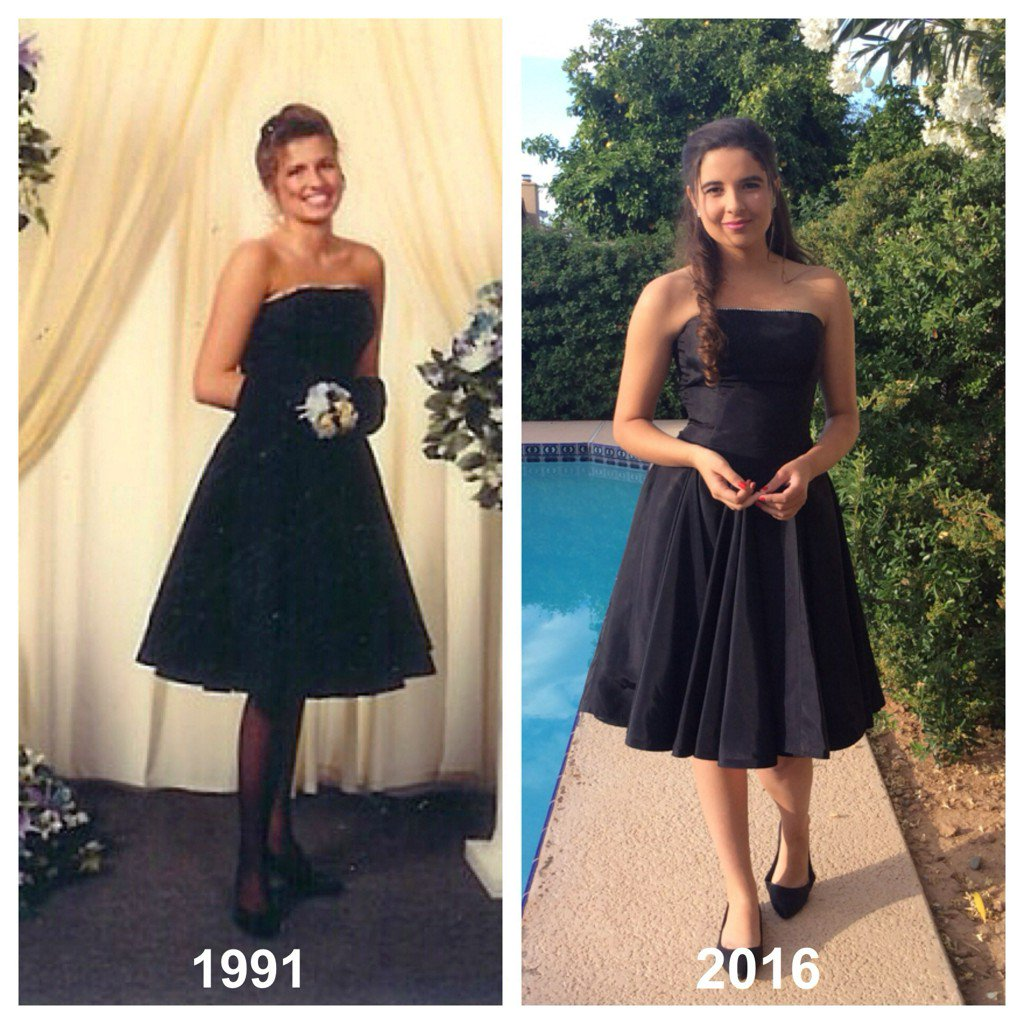 This 17 Year Old Wore Her Mom S 90s Prom Dress To And