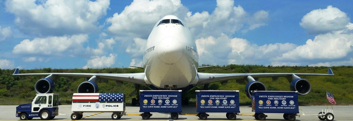 .@Delta's Honor Guard remembers America's fallen heroes.
