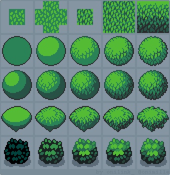 Tutorial: How to draw foliage #gamedev #indiedev #pixelart https://t.co/0WSQF3WOuD