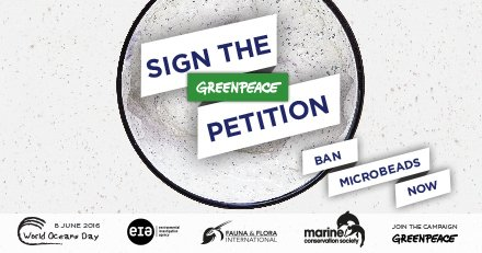 We're supporting @GreenpeaceUK campaign & petition to ban #microbeads - have you signed it? https://t.co/kWLO67gO85 https://t.co/RrQl79sGjz