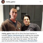 Thanks for the Shout-Out Matty ???????????? Good Luck for Sunday ???????????????????????? #mattygainz #London #barber #ginogentshairdressing https://t.co/NKGtnzAVI2