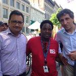 Avec le pres du syndicat des employés du Vieux Port en grève. Il est imp pour QS dêtre à leurs côtés https://t.co/jEhzIsbpbq
