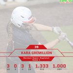 Kara Gremillions 3 hits in the Supers opener marked a career-best total. Leads team with 13 hits vs. ranked foes. https://t.co/9phappC3Ei