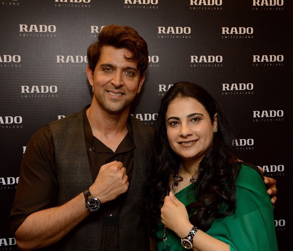Launch of one of my favourite collections of @Rado, Chocolate Brown Ceramic. @iHrithik shared some amazing anecdotes https://t.co/4wfhvVMrY4