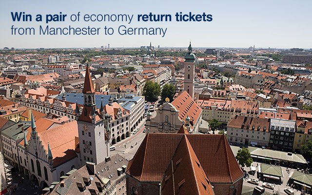 Win flights to Germany with @lufthansa to celebrate 60 years of flying from Manchester