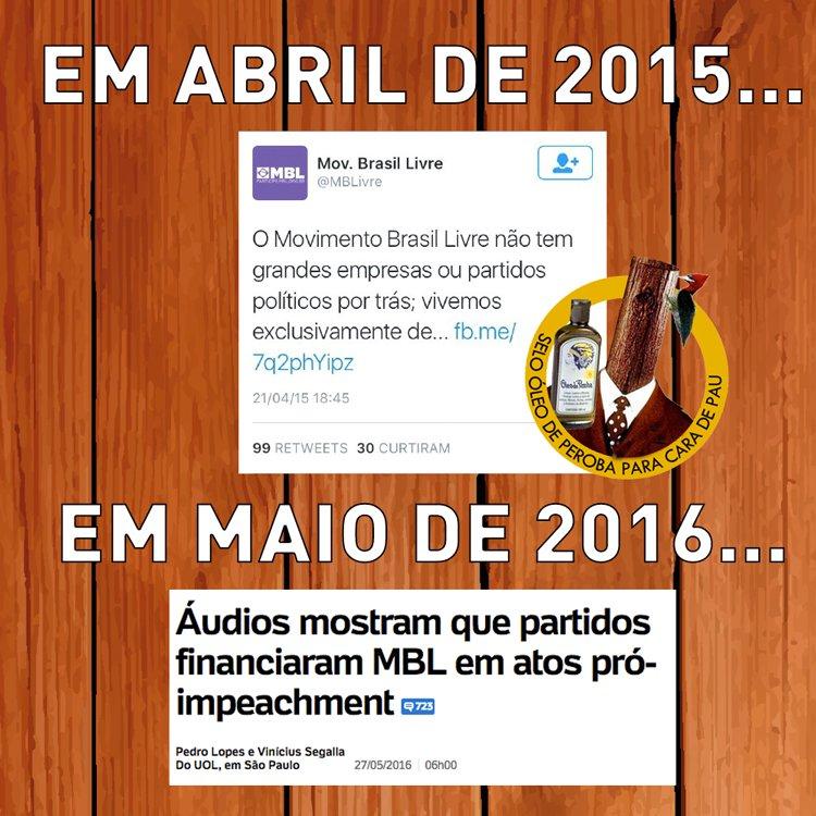 A CASA CAIU PRO @MBLivre  Perguntamos: Como é possível ser contra a corrupção sendo bancado por @DepEduardoCunha?