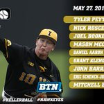 Starting lineup against Ohio State! Game time is 1 p.m.; watch live on BTN! #Hawkeyes #B1GBaseball https://t.co/j5LNXrJsOS